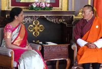 MoS for Commerce & Industry (IC), Nirmala Sitharaman calls on the Prime Minister of Bhutan, Tshering Tobgay