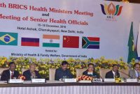 Minister for Health & Family Welfare, J.P. Nadda addressing the Health Ministers from BRICS member countries