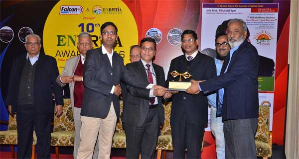 NTPC NETRA awarded for Institutional Research,Training and Excellence in Academia at the 10th Enertia Awards held in New Delhi