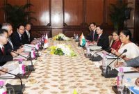 MoS for Commerce & Industry (IC), Nirmala Sitharaman and the Minister of Economy, Trade and Industry, Japan, Hiroshige Seko
