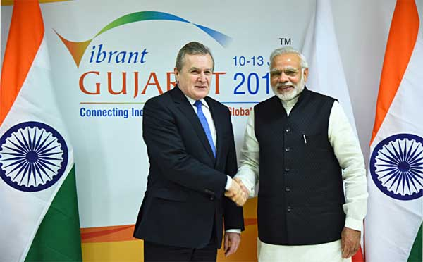 The Prime Minister, Narendra Modi meeting the Deputy Prime Minister of Poland, Piotr Glinski,