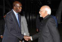The Vice President, M. Hamid Ansari being received by the Prime Minister of Rwanda, Anastase Murekezi