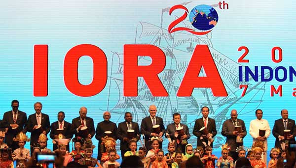 The Vice President, M. Hamid Ansari at the opening ceremony of the 20th Indian Ocean Rim Association Leaders' Summit, in Jakarta, Indonesia on March 07, 2017. The President of Indonesia, Joko Widodo and other leaders are also seen.