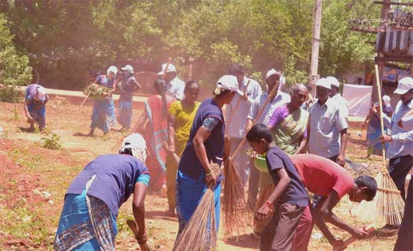 Active participation of people from  N peripheral villages  in  Clean India  mission organized by NLCIL under its CSR activities