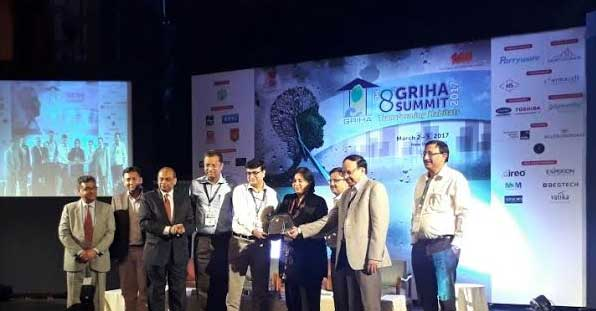 REC received the exemplary Demonstration of ' Passive Architecture Design' by GRIHA Council in their 8th Summit 2017