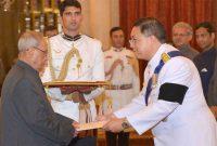 Ambassador-designate of the Kingdom of Thailand, Chutintorn Gongsakdi presenting his credentials to the President,