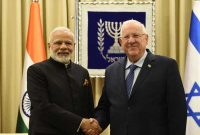 Prime Minister, Narendra Modi calls on the President of Israel, Reuven Rivlin, in Jerusalem, Israel on July 05, 2017.