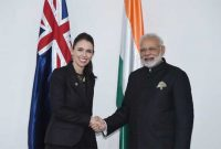 Prime Minister, Narendra Modi meeting the Prime Minister of New Zealand, Jacinda Ardern, in Manila, Philippines