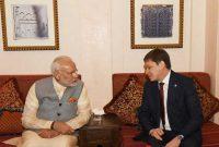Modi meets Kyrgyzstan PM
