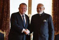 Prime Minister, Narendra Modi meeting the Prime Minister of Denmark, Lars Lokke Rasmussen