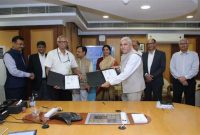 Memorandum of Agreement between NTPC and IRCTC for packaged drinking water