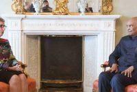 The President, Ram Nath Kovind meeting the Governor of Victoria, Linda Dessau
