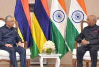 Prime Minister of the Republic of Mauritius, called on the President of India, Ram Nath Kovind