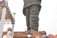 The President of India, Ram Nath Kovind visited the Statue of Unity in Kevadia, Gujarat
