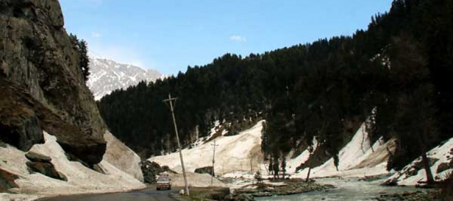 A view of Soanmarg in Grandbal district of Jammu and Kashmir.