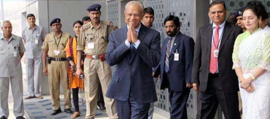 Prime Minister Navin Ramgoolam of Mauritius arrives in New Delhi to attend the swearing-in ceremony of Prime Minister-designate Narendra Modi in New Delhi on May 26, 2014.