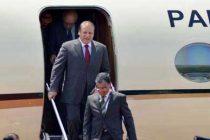 Prime Minister Nawaz Sharif of Pakistan arrives in New Delhi to attend the swearing-in ceremony of Prime Minister-designate Narendra Modi.