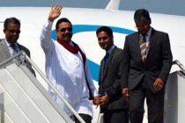 President Mahinda Rajapaksa of Sri Lanka arrives in New Delhi to attend the swearing-in ceremony of Prime Minister-designate Narendra Modi.