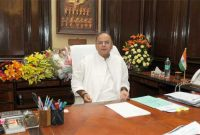 Arun Jaitley taking charge as the Union Minister for Finance, in New Delhi on May 27, 2014.