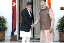 The Prime Minister, Narendra Modi with the Prime Minister of Nepal, Sushil Koirala, in New Delhi on May 27, 2014.