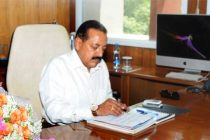 Dr. Jitendra Singh taking charge as the Minister of State (Independent Charge) for Science and Technology