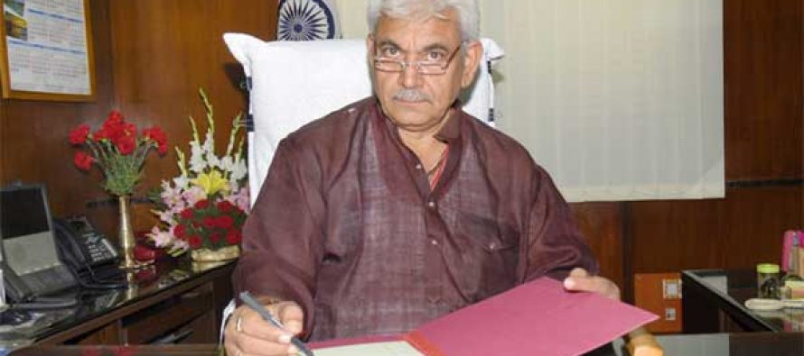Manoj Sinha taking charge as the Minister of State for Railways, in New Delhi on May 28, 2014.
