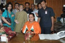 Sushri Uma Bharati taking charge as the Union Minister for Water Resources, River Development and Ganga Rejuvenation