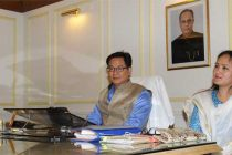 Kiren Rijiju taking charge as the Minister of State for Home Affairs, in New Delhi on May 29, 2014.