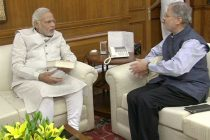 The Lt. Governor of Delhi, Najeeb Jung called on the Prime Minister, Narendra Modi, in New Delhi on May 28, 2014.