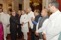 The President of India, Pranab Mukherjee, the Prime Minister of India, Narendra Modi and then Union Council of Ministers