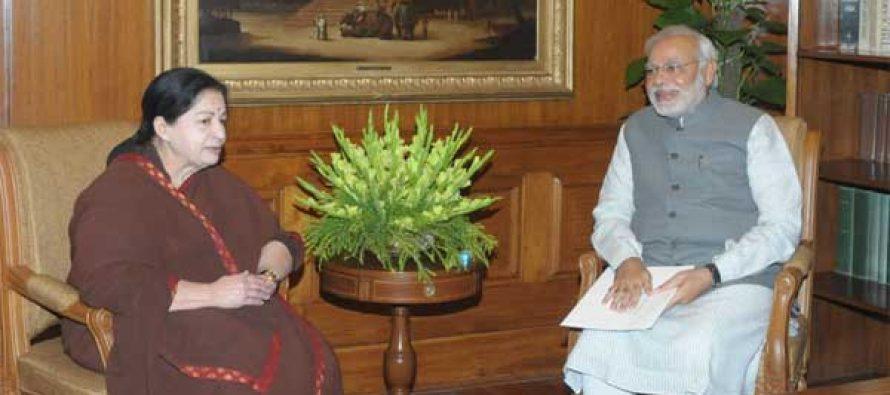 TN CM Jayalalitha Meets PM Modi – Support If Necessary