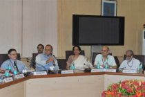 The Union Minister for Finance, Corporate Affairs and Defence, Arun Jaitley holding pre-Budget consultations