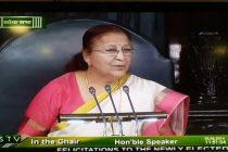 Sumitra Mahajan elected Lok Sabha speaker