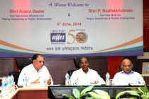 Minister for Heavy Industries & Public Enterprises, Anant Geete reviews performance and plans of BHEL