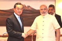 The Minister of Foreign Affairs of People's Republic of China, Wang Yi calling on the Prime Minister, Narendra Modi