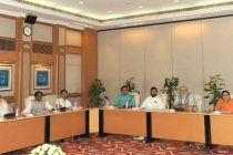The PM, Narendra Modi chairing a meeting on monsoon, farming and rural economy, in New Delhi on June 13, 2014.