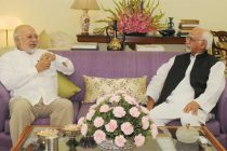 The High Commissioner of Bangladesh, Tariq A. Karim calling on the Vice President, Mohd. Hamid Ansari, in New Delhi on June 19, 2014.