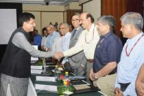 The MoS (IC) for Power, Coal and New and Renewable Energy, Piyush Goyal meeting with the Heads of Financial Institutions & Banks