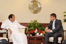 The High Commissioner of Australia in India, Patrick Suckling meeting the Minister for Urban Development, Housing and Urban Poverty Alleviation and Parliamentary Affairs, M. Venkaiah Naidu