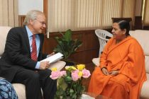 The Ambassador of the Netherlands in India, Fransje Just-vander Kemp calling on the Minister for Water Resources, River Development and Ganga Rejuvenation, Sushri Uma Bharati