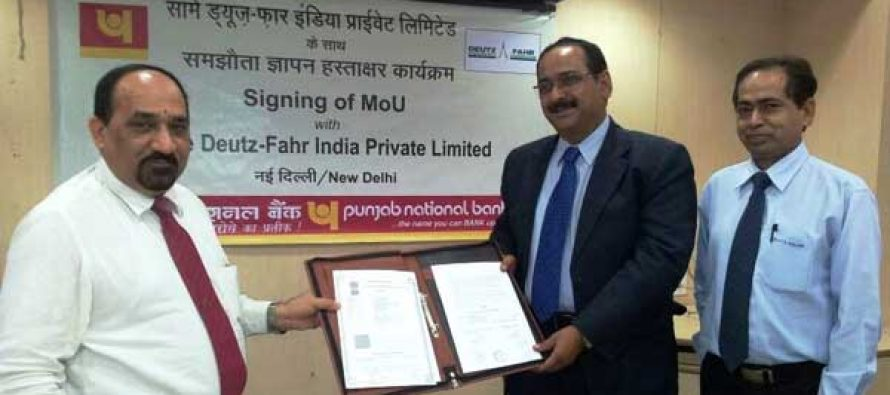 PNB signed MOU with Same Deutz Fahr India P. Limited