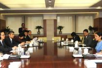 The MoS for Commerce & Industry (IC), Finance and Corporate Affairs, Nirmala Sitharaman meeting the commerce & industry Minister of china, Gao Hucheng, at Beijing, in China on June 30, 2014.