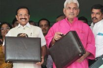 The Union Minister for Railways, D.V. Sadananda Gowda departs from Rail Bhavan to Parliament House to present the Rail Budget 2014-15,