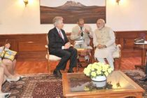 The US Deputy Secretary of State, William Burns calls on the Prime Minister, Narendra Modi, in New Delhi on July 11, 2014.