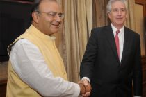 The US Deputy Secretary of State, William Joseph Burns meeting the Minister for Finance, Corporate Affairs and Defence, Arun Jaitley
