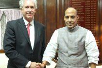 The US Deputy Secretary of State, William Joseph Burns calling on the Home Minister, Rajnath Singh, in New Delhi