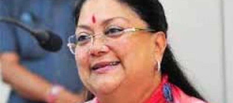 Raje demands special relief package of Rs.11,886 crore