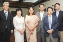 A delegation of Japanese Parliamentarian called on the Minister for Women and Child Development, Maneka Sanjay Gandhi,