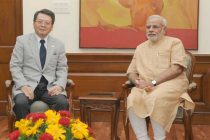The President and CEO, Mitsubishi Corporation, Mr. Ken Kobayashi calling on the Prime Minister, Shri Narendra Modi