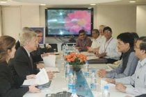 The US Deputy Secretary, Daniel Poneman meeting the MoS (IC) for Power, Coal and New and Renewable Energy, Piyush Goyal